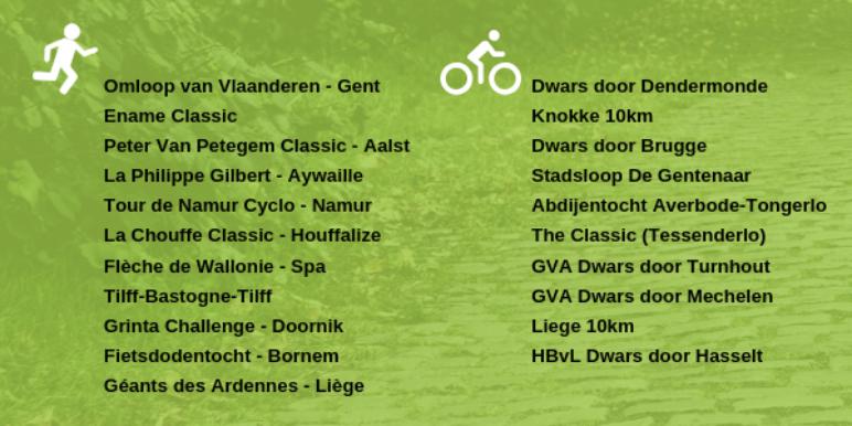 Omloop Van Vlaanderen Gent Dwars Door Dendermonde Ename Classic Peter Van Petegem Classic Aalst La Philippe Gilbert Aywaille Knokke 10Km Tour De Namur Cyclo Namur Dwars Door Brugge La Chouffe Classic Hou