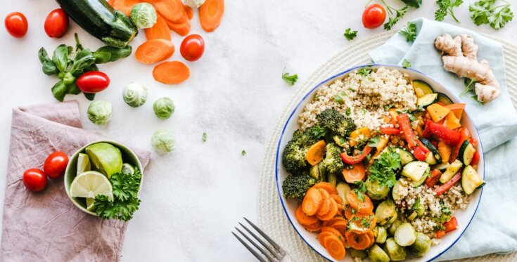 Flat Lay Photography Of Vegetable Salad On Plate 1640777
